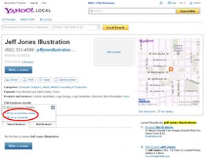 Yahoo Local Listing